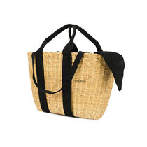 MUUN 2WAY Plain Straw Bags