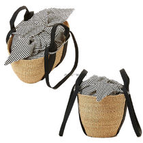 MUUN Other Plaid Patterns 2WAY Plain Straw Bags