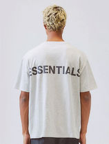 FEAR OF GOD ESSENTIALS Crew Neck Unisex Street Style Cotton Short Sleeves