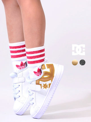 DC Shoes Unisex Street Style Kids Girl Sneakers