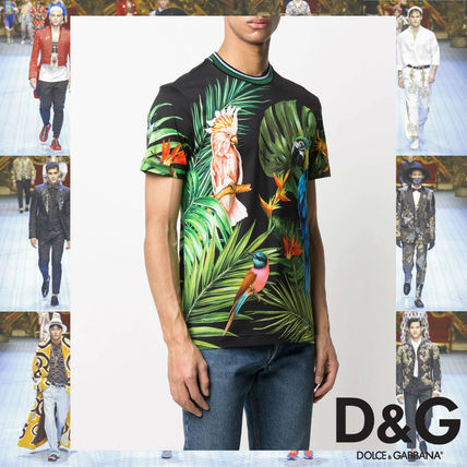 Dolce & Gabbana More T-Shirts Flower Patterns Tropical Patterns Street Style Cotton