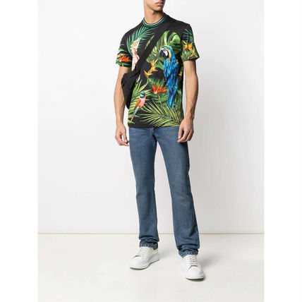 Dolce & Gabbana More T-Shirts Flower Patterns Tropical Patterns Street Style Cotton 3