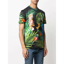 Dolce & Gabbana More T-Shirts Flower Patterns Tropical Patterns Street Style Cotton 4