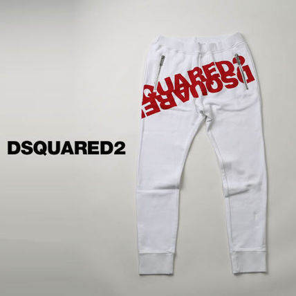 D SQUARED2 Tapered Pants Sweat Street Style Plain Cotton Logo