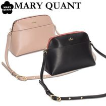 MARY QUANT Casual Style Plain PVC Clothing Crossbody Shoulder Bags