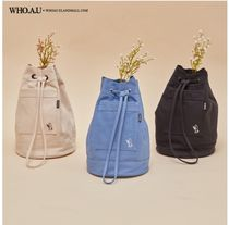 WHO.A.U Casual Style Unisex Canvas Street Style 2WAY Purses