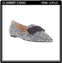 Jimmy Choo Elegant Style Glitter Pointed Toe Shoes