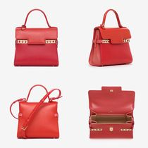 DELVAUX Casual Style Calfskin 2WAY Leather Party Style Elegant Style