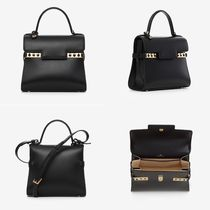 DELVAUX Casual Style Calfskin 2WAY Plain Leather Party Style