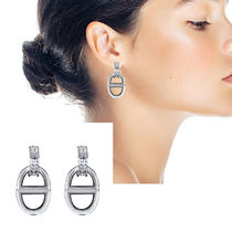 HERMES Chaine dAncre Silver Earrings