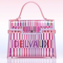 DELVAUX Stripes Casual Style A4 2WAY Party Style Crystal Clear Bags