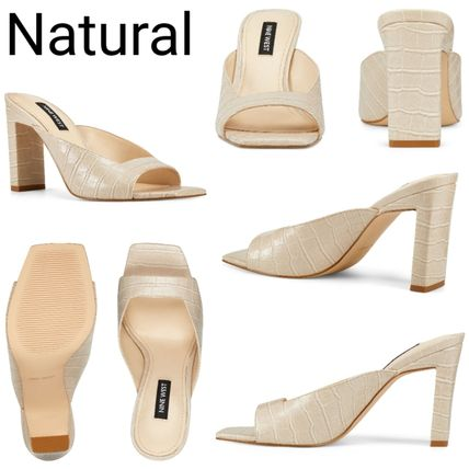 Open Toe Casual Style Plain Other Animal Patterns Leather