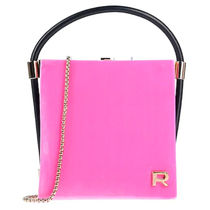 ROCHAS Casual Style 2WAY Plain Leather Party Style Office Style