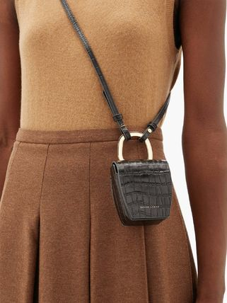 Casual Style 2WAY Leather Party Style Crossbody Logo
