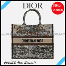 Christian Dior Flower Patterns Casual Style Unisex Canvas Blended Fabrics