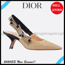 Christian Dior JADIOR Casual Style Blended Fabrics Street Style Leather Pin Heels