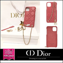 Christian Dior Chain Leather With Jewels Logo iPhone 11 Pro Max