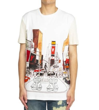 Crew Neck Pullovers Short Sleeves Crew Neck T-Shirts