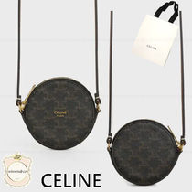 CELINE Triomphe Canvas Canvas Blended Fabrics Coin Cases