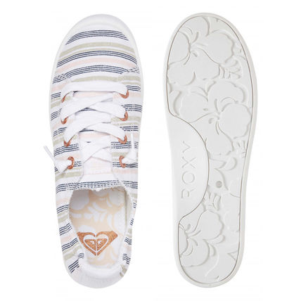 ROXY Stripes Casual Style Plain Low-Top Sneakers