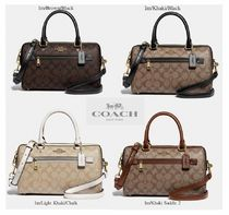 Coach Casual Style Canvas 2WAY Leather Party Style Office Style