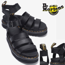 Dr Martens Unisex Blended Fabrics Street Style Plain Leather Sandals
