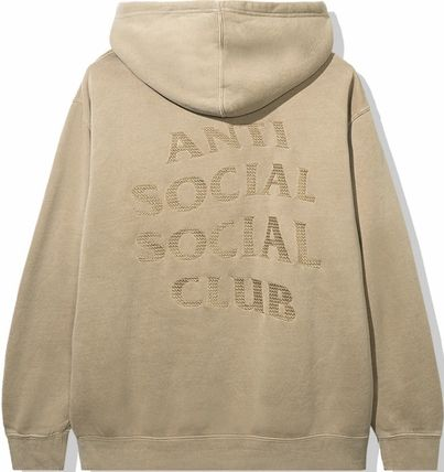 ANTI SOCIAL SOCIAL CLUB Hoodies Unisex Street Style Long Sleeves Plain Cotton Logo Hoodies 2