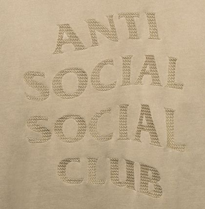 ANTI SOCIAL SOCIAL CLUB Hoodies Unisex Street Style Long Sleeves Plain Cotton Logo Hoodies 4
