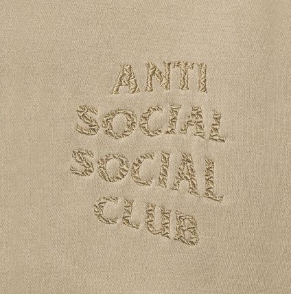 ANTI SOCIAL SOCIAL CLUB Hoodies Unisex Street Style Long Sleeves Plain Cotton Logo Hoodies 5