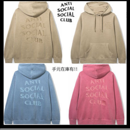 ANTI SOCIAL SOCIAL CLUB Hoodies Unisex Street Style Long Sleeves Plain Cotton Logo Hoodies