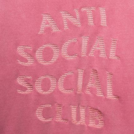 ANTI SOCIAL SOCIAL CLUB Hoodies Unisex Street Style Long Sleeves Plain Cotton Logo Hoodies 6