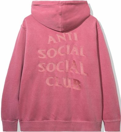 ANTI SOCIAL SOCIAL CLUB Hoodies Unisex Street Style Long Sleeves Plain Cotton Logo Hoodies 7