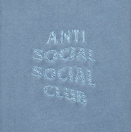 ANTI SOCIAL SOCIAL CLUB Hoodies Unisex Street Style Long Sleeves Plain Cotton Logo Hoodies 10