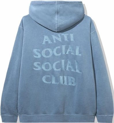 ANTI SOCIAL SOCIAL CLUB Hoodies Unisex Street Style Long Sleeves Plain Cotton Logo Hoodies 11