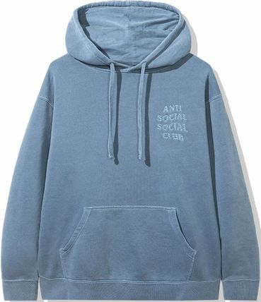 ANTI SOCIAL SOCIAL CLUB Hoodies Unisex Street Style Long Sleeves Plain Cotton Logo Hoodies 12