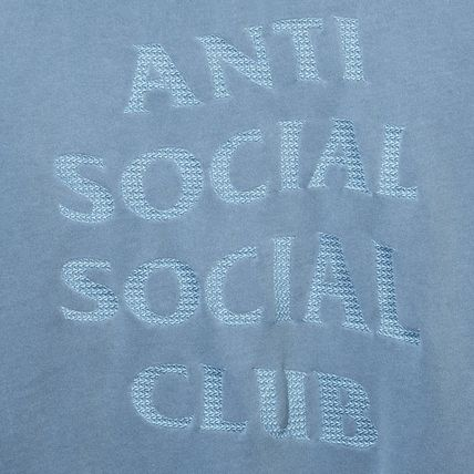 ANTI SOCIAL SOCIAL CLUB Hoodies Unisex Street Style Long Sleeves Plain Cotton Logo Hoodies 13
