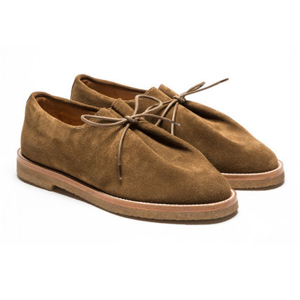 Suede Street Style Plain Oxfords