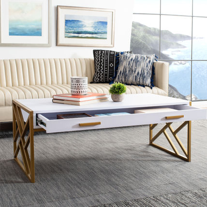 Gold Furniture Coffee Tables Table & Chair