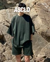 ASCLO Street Style Collaboration Plain Short Sleeves T-Shirts
