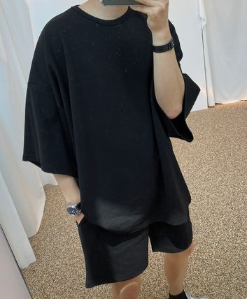 ASCLO More T-Shirts Street Style Collaboration Plain Short Sleeves T-Shirts 5