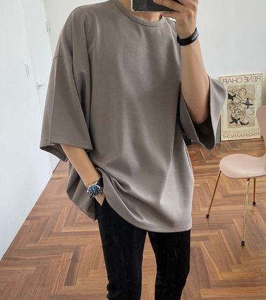 ASCLO More T-Shirts Street Style Collaboration Plain Short Sleeves T-Shirts 6