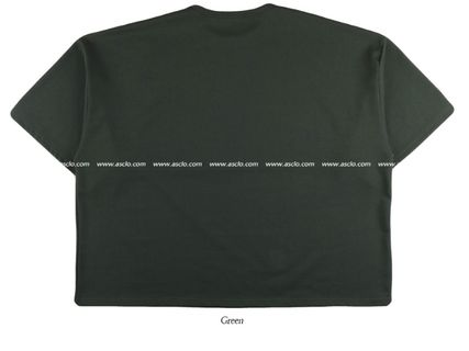 ASCLO More T-Shirts Street Style Collaboration Plain Short Sleeves T-Shirts 13
