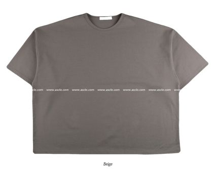 ASCLO More T-Shirts Street Style Collaboration Plain Short Sleeves T-Shirts 16