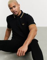FRED PERRY Pullovers Unisex Street Style Cotton Short Sleeves Logo