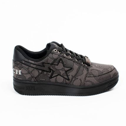 Unisex Street Style Collaboration Logo Low-Top Sneakers