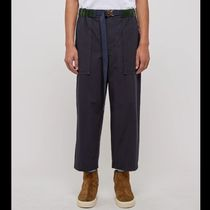 sacai Nylon Plain Cotton Cropped Pants