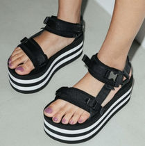 X-girl Stripes Platform Casual Style Unisex Street Style