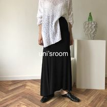 Pencil Skirts Flared Skirts Casual Style Maxi Plain Long