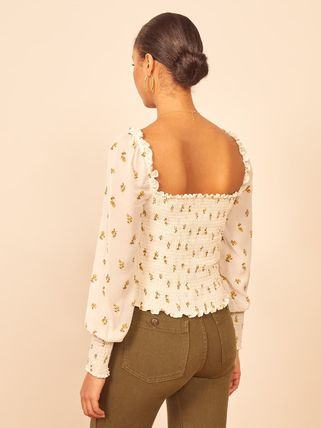 Short Flower Patterns Street Style Long Sleeves