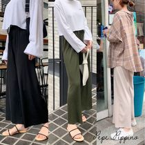 Casual Style Plain Long Short Length Oversized Loungewear